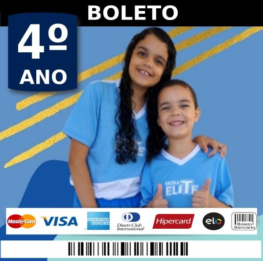 BOLETO 4 ANO - ESCOLA ELITE